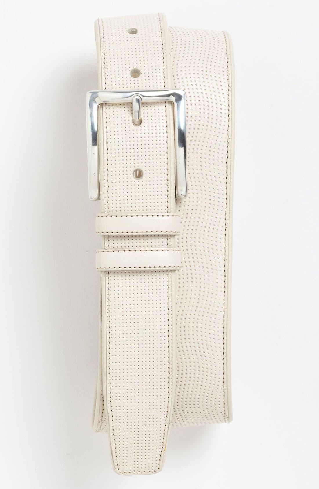 Main Image - Mezlan Deerskin Leather Belt