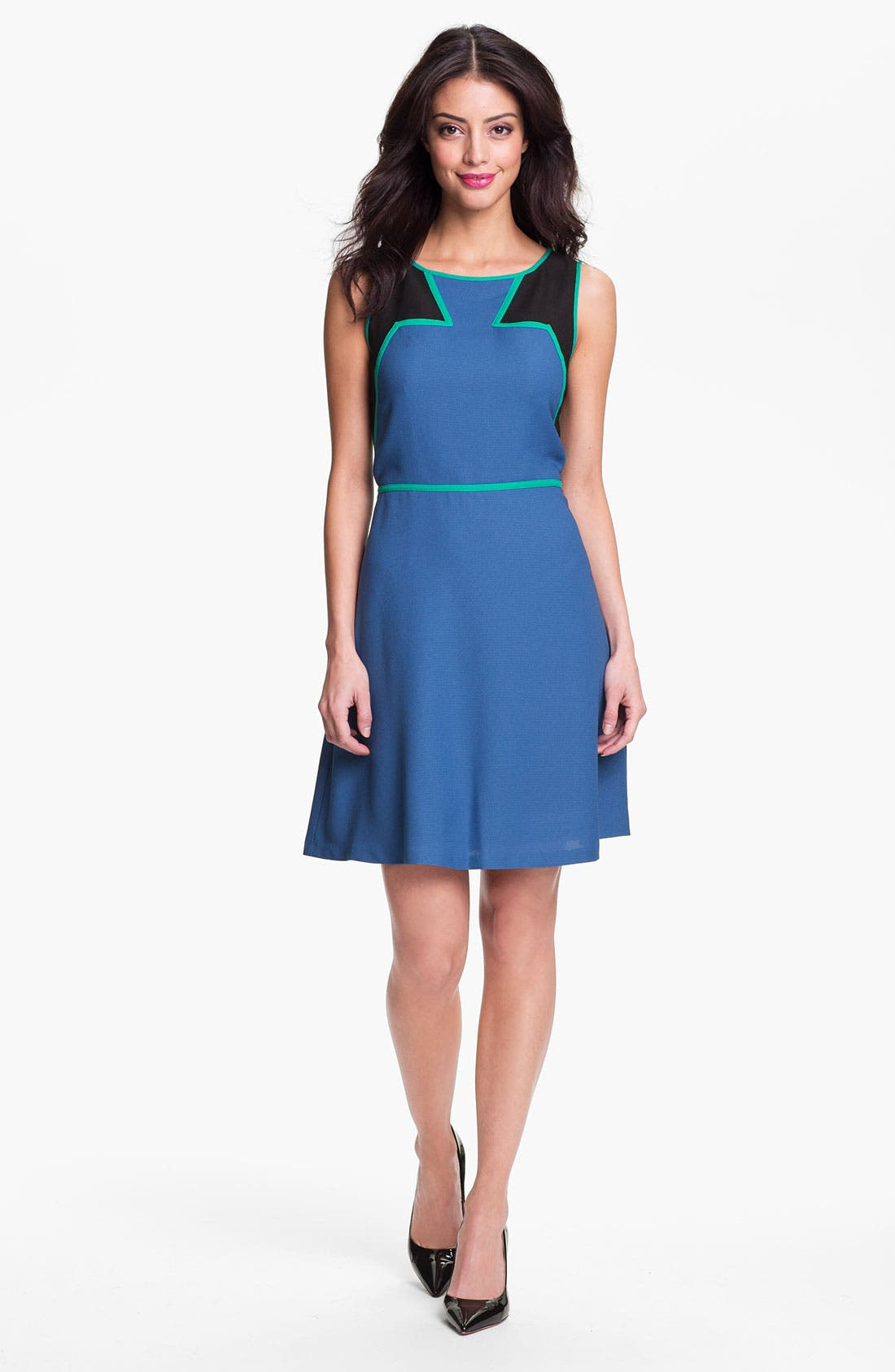 Main Image - Marc New York by Andrew Marc Colorblock Fit & Flare Dress
