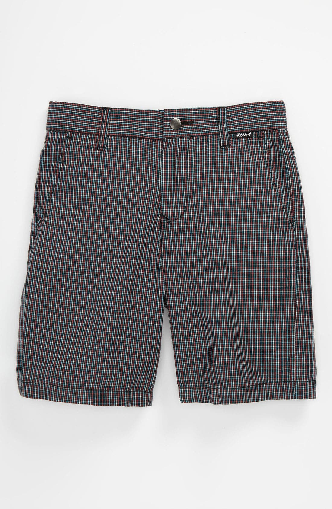 Alternate Image 1 Selected - Volcom 'Rushy' Plaid Shorts (Toddler)