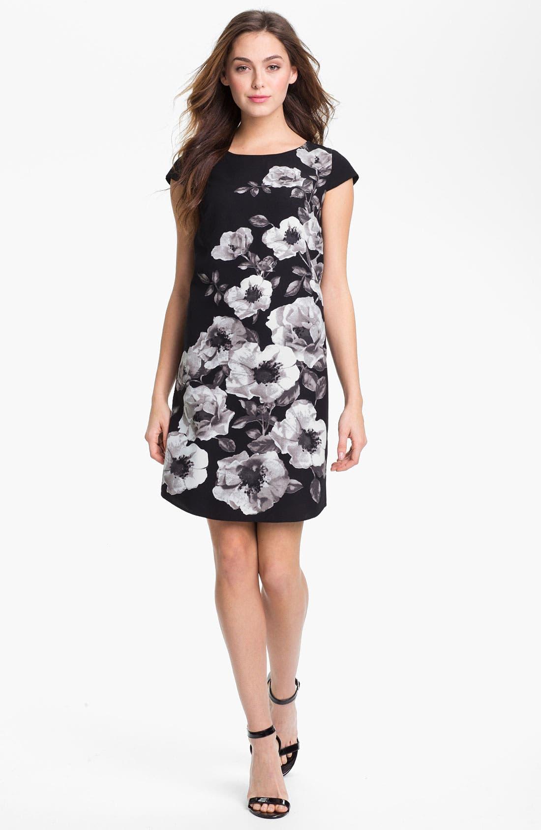 Alternate Image 1 Selected - Halogen Placed Print Shift Dress