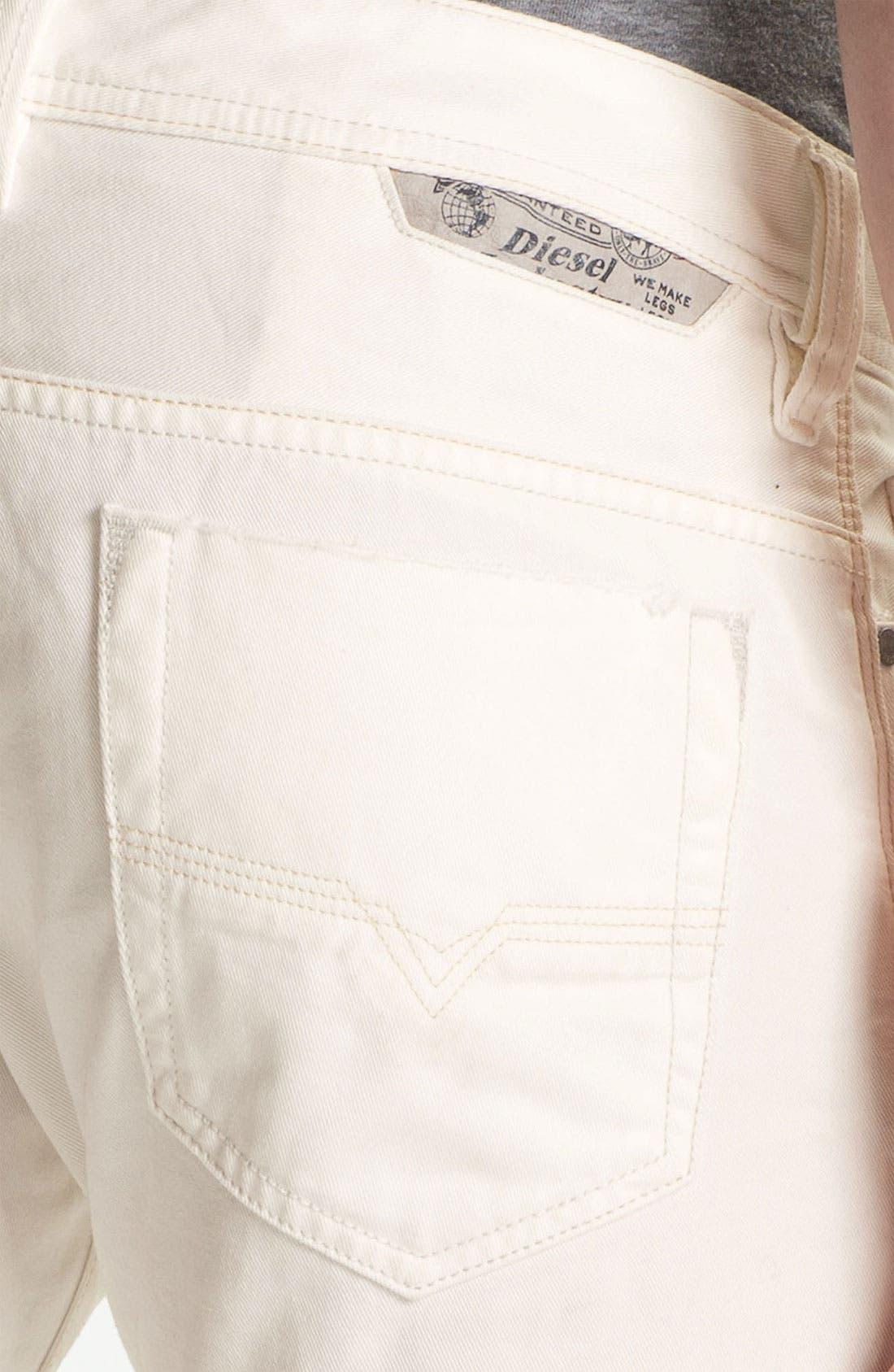 Alternate Image 4  - DIESEL® 'Safado' Slim Fit Jeans (Pure White)