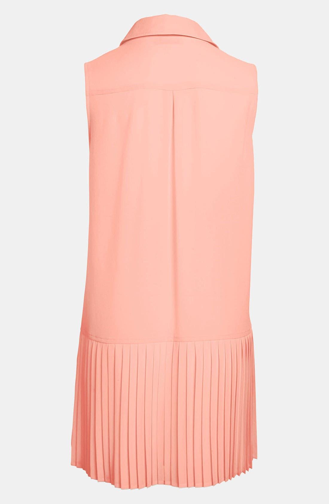 Alternate Image 2  - ASTR Pleated Skirt Drop Waist Dress