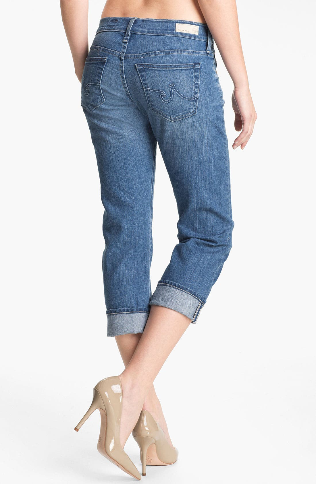 Alternate Image 2  - AG Jeans 'Tomboy' Crop Stretch Jeans (17-Year)