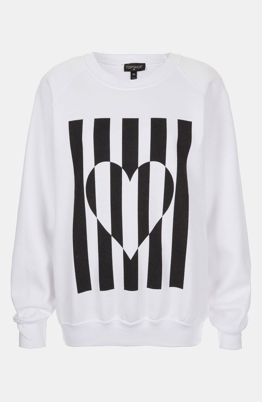 Alternate Image 1 Selected - Topshop Heart Graphic Sweatshirt