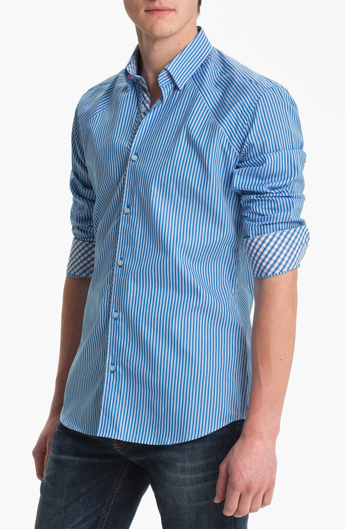 Alternate Image 1 Selected - Stone Rose Stripe Woven Shirt