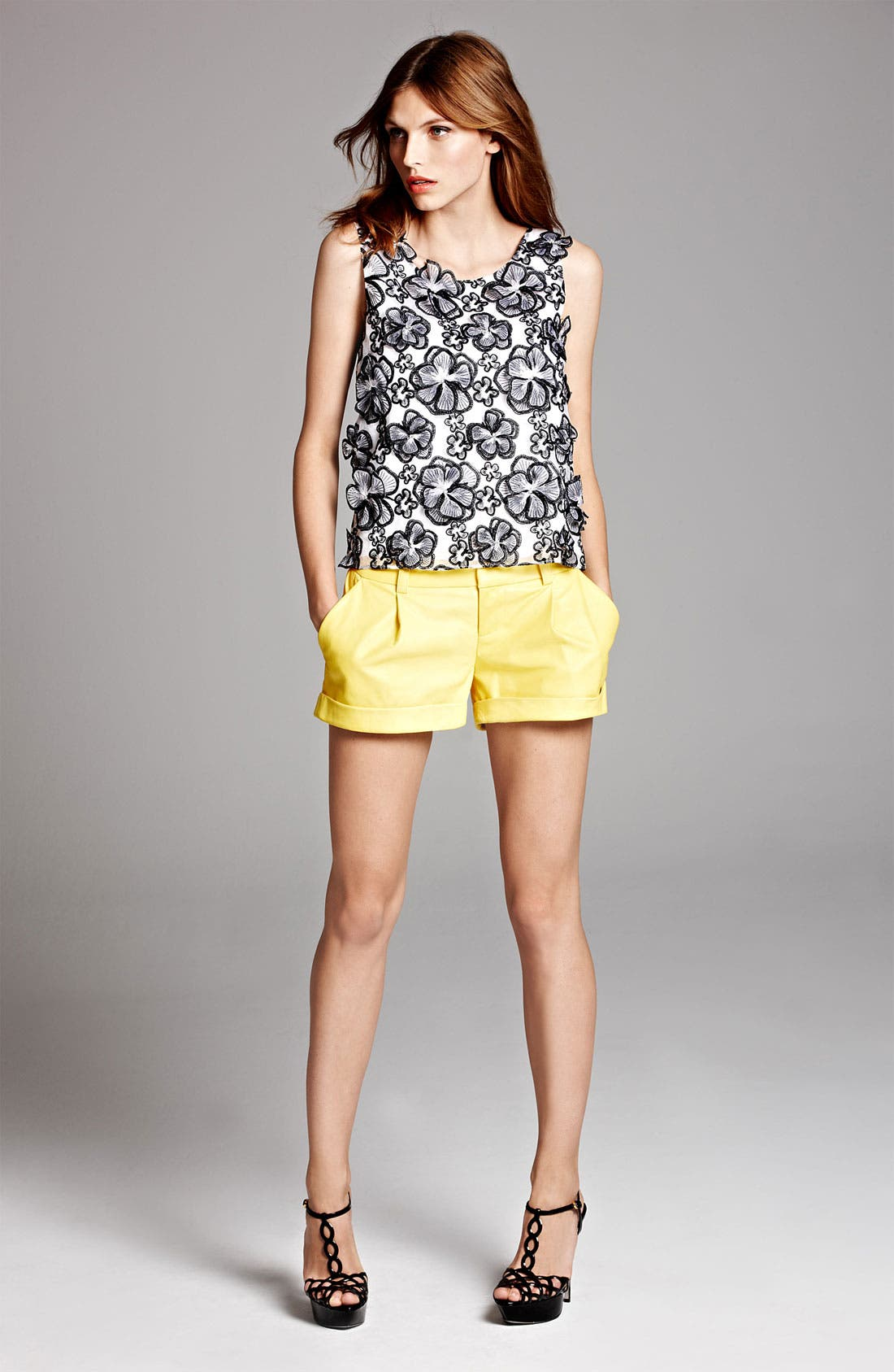 Alternate Image 6  - Alice + Olivia Flower Embellished Tank