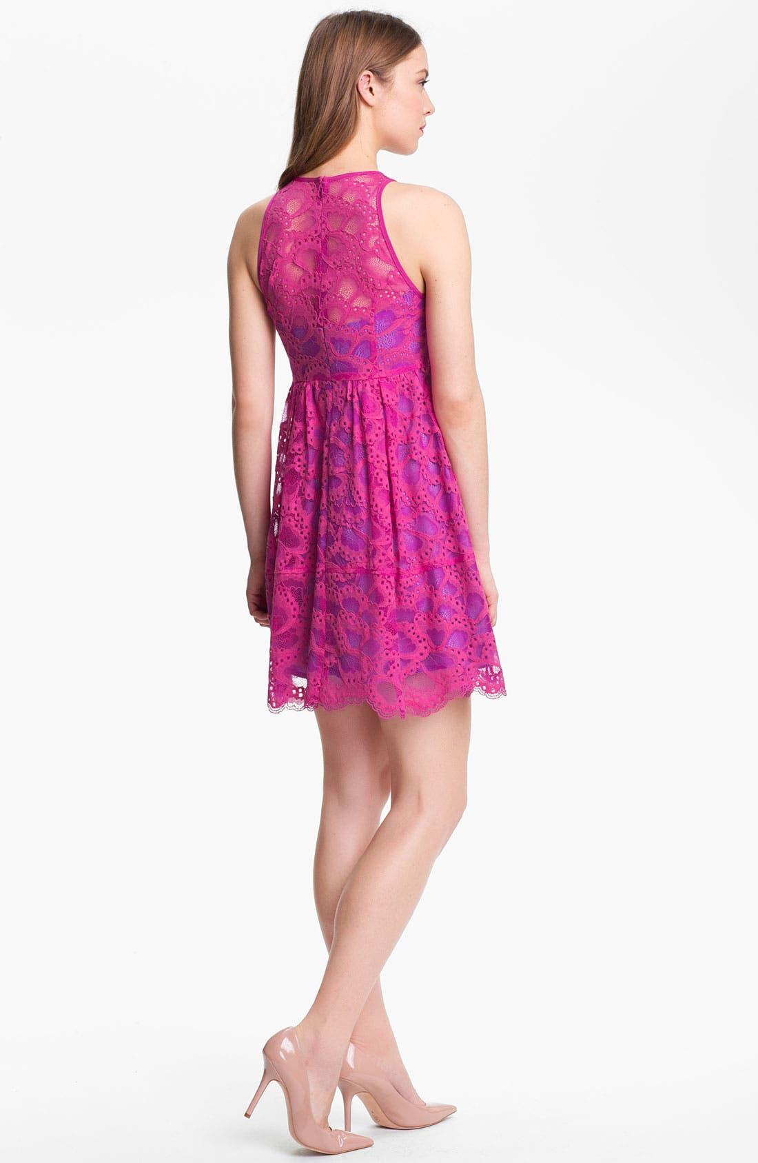 Alternate Image 2  - Nanette Lepore 'Secret Escape' Cotton Blend A-Line Dress