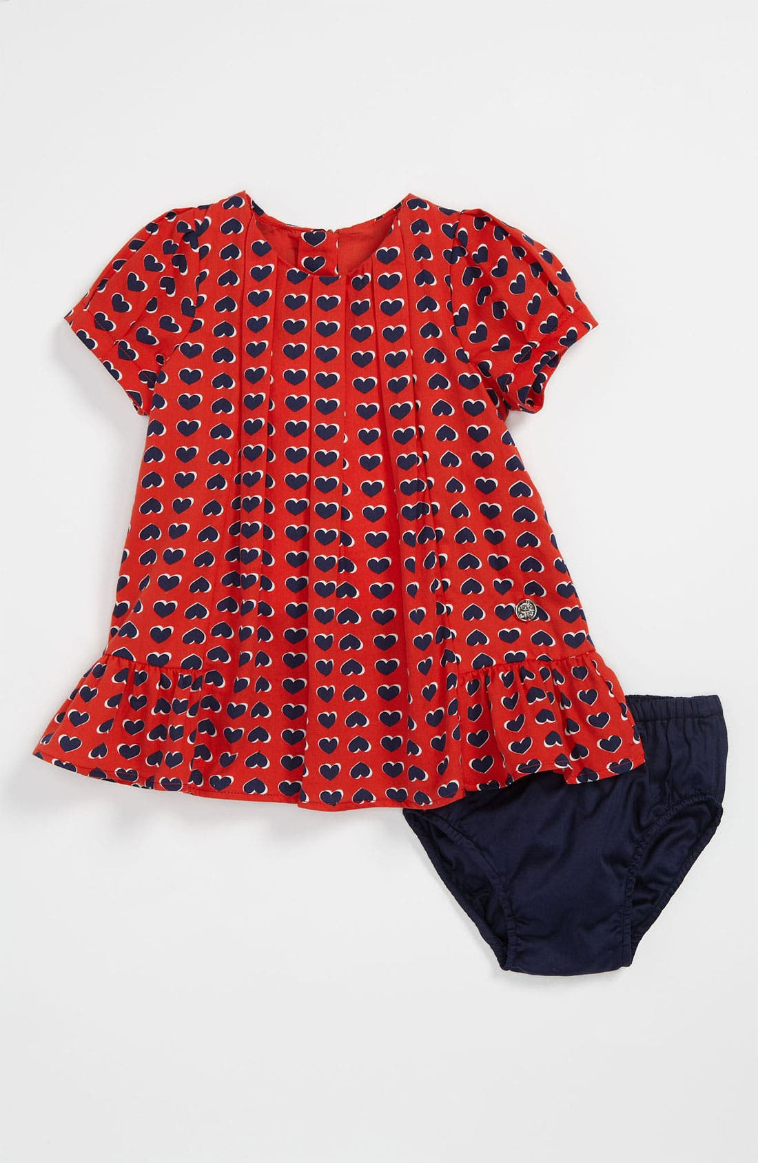 Alternate Image 1 Selected - LITTLE MARC JACOBS Heart Print Dress & Bloomers (Baby)