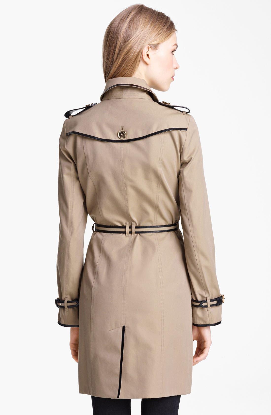 Alternate Image 2  - Burberry London Belted Gabardine Trench Coat