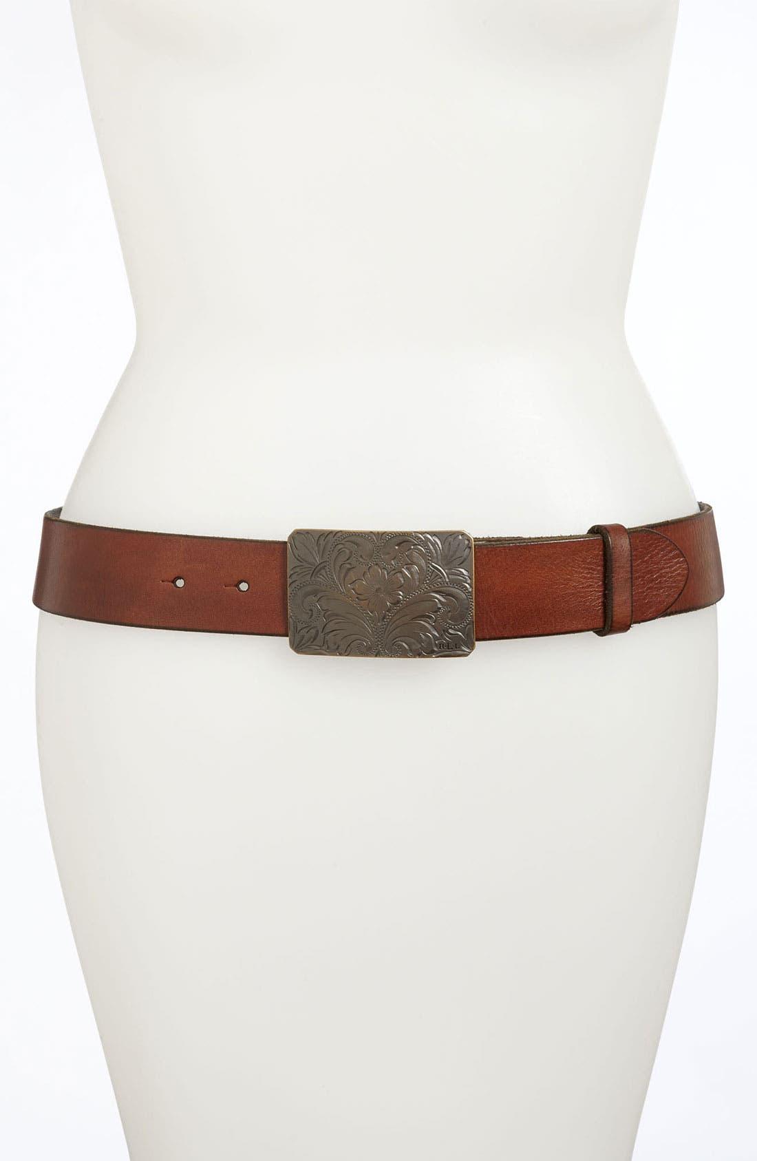 Main Image - Lauren Ralph Lauren Leather Belt
