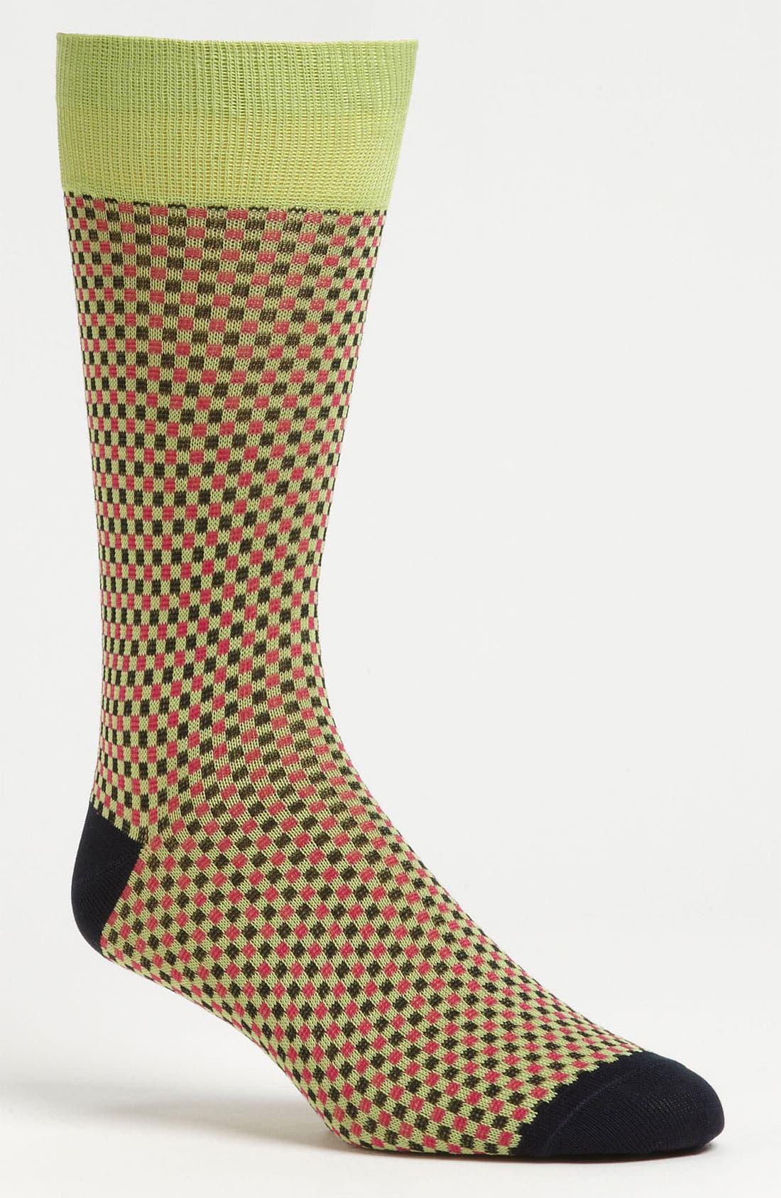 Alternate Image 1 Selected - Lorenzo Uomo Check Socks