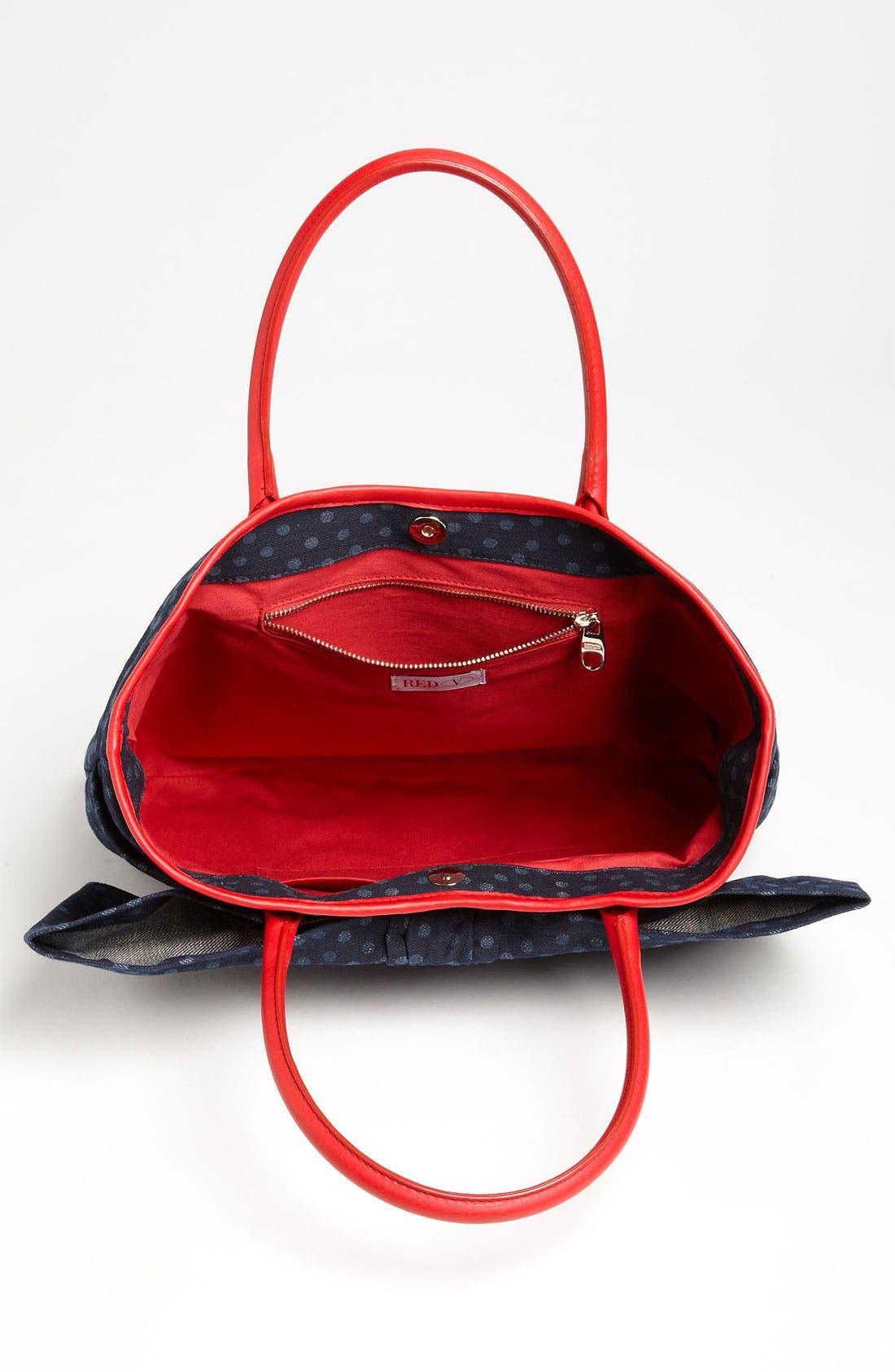 Alternate Image 3  - RED Valentino 'Bow' Denim Tote