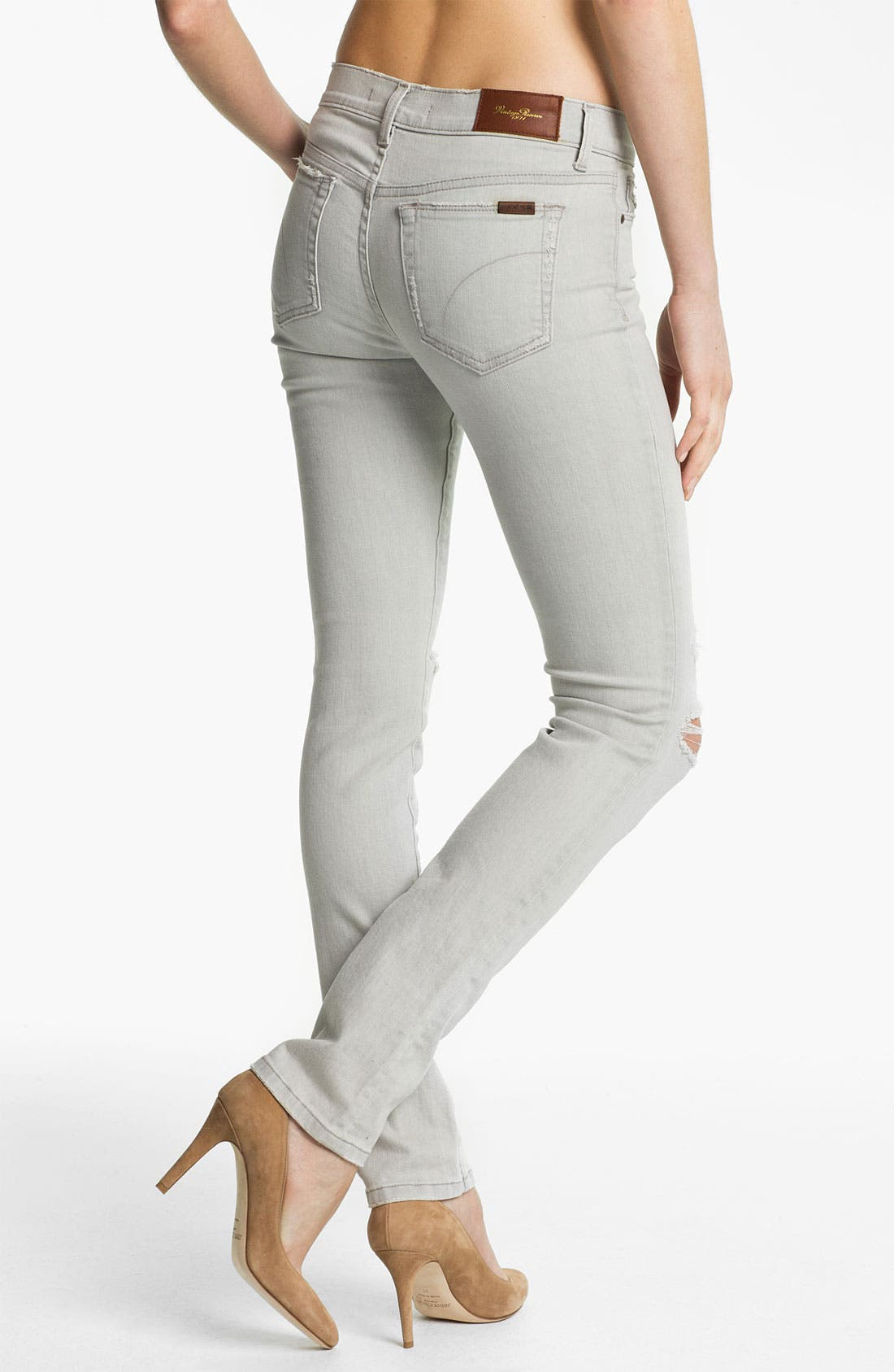 Alternate Image 2  - Joe's 'Cigarette' Straight Leg Stretch Jeans (Light Grey)