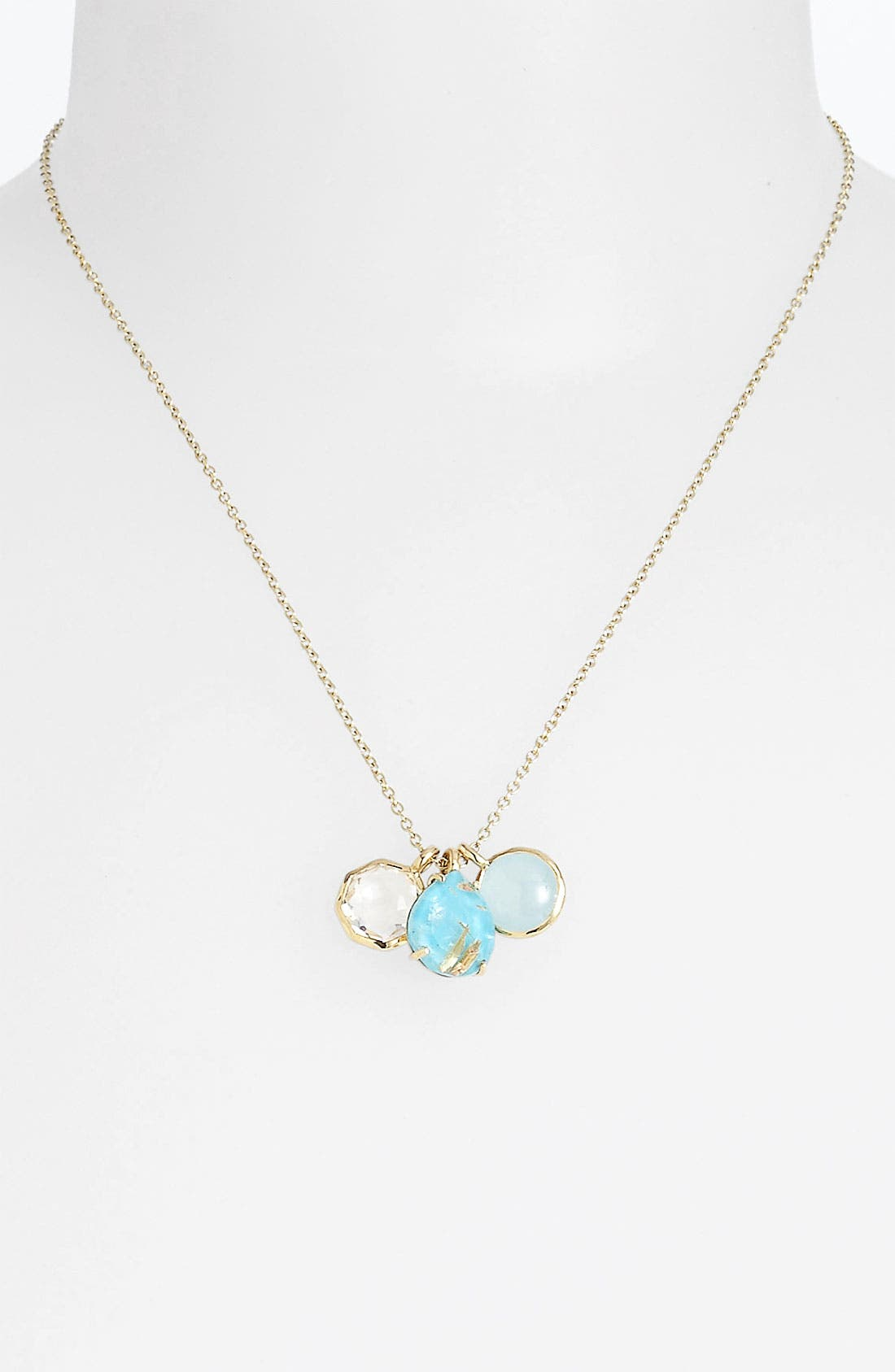 Main Image - Ippolita 'Rock Candy - Gelato' 18k Gold Cluster Pendant Necklace