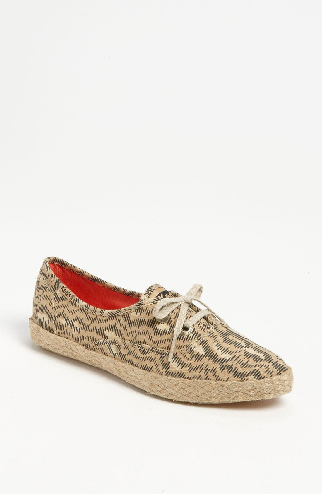Alternate Image 1 Selected - Keds® 'Pointer Animal' Jute Trim Sneaker (Women)