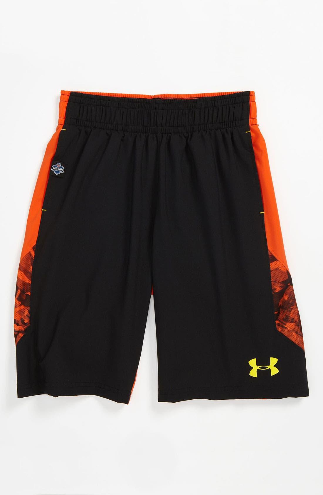 Alternate Image 1 Selected - Under Armour 'NFL Combine' Shorts (Big Boys)