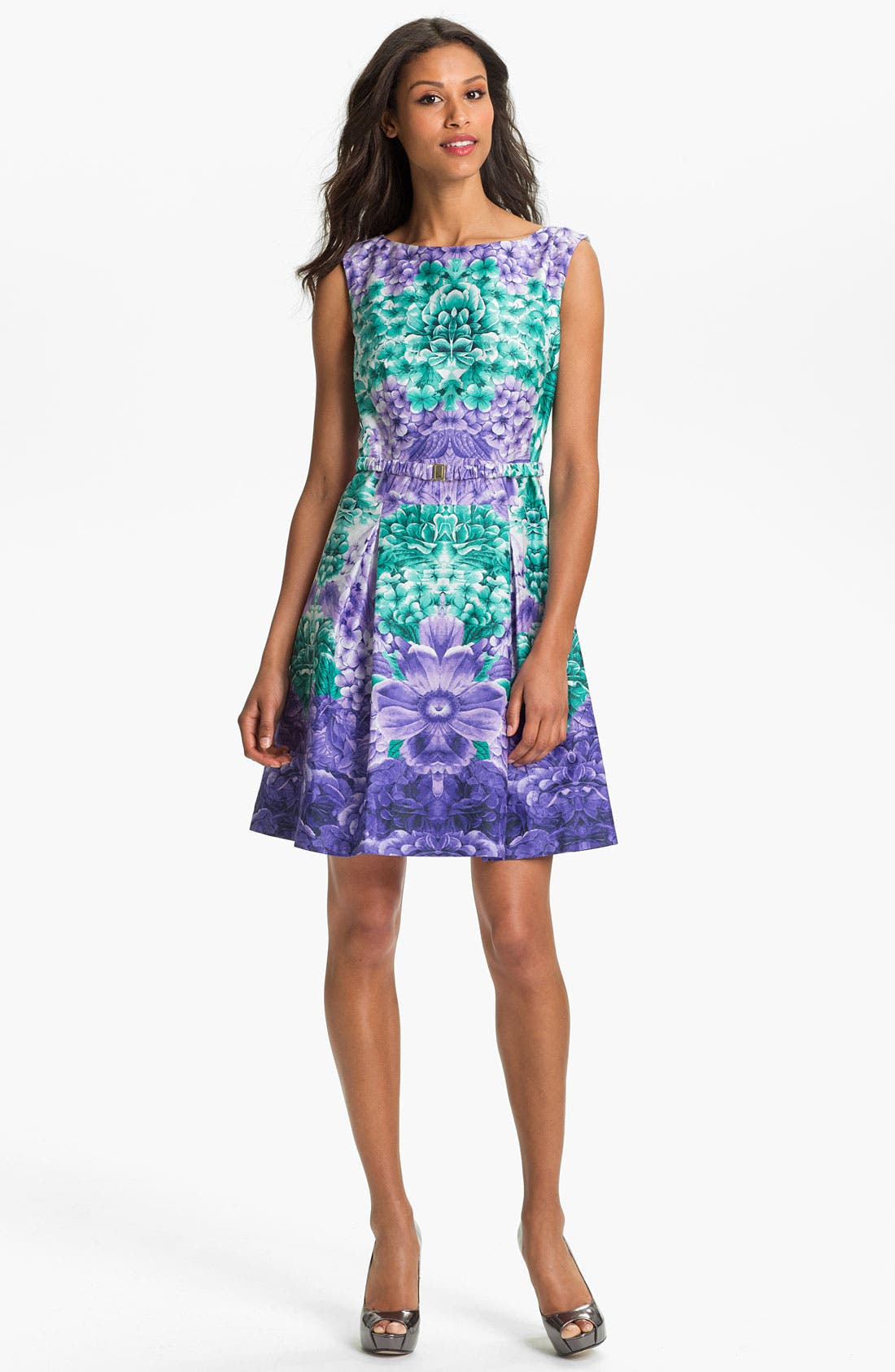 Alternate Image 1 Selected - Laundry by Shelli Segal Print Fit & Flare Dress