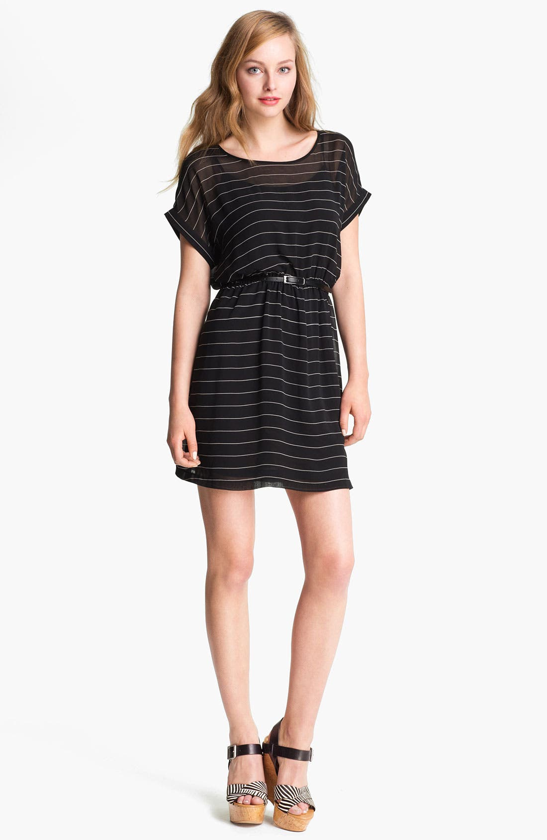 Alternate Image 1 Selected - Kensie Belted Stripe Dress