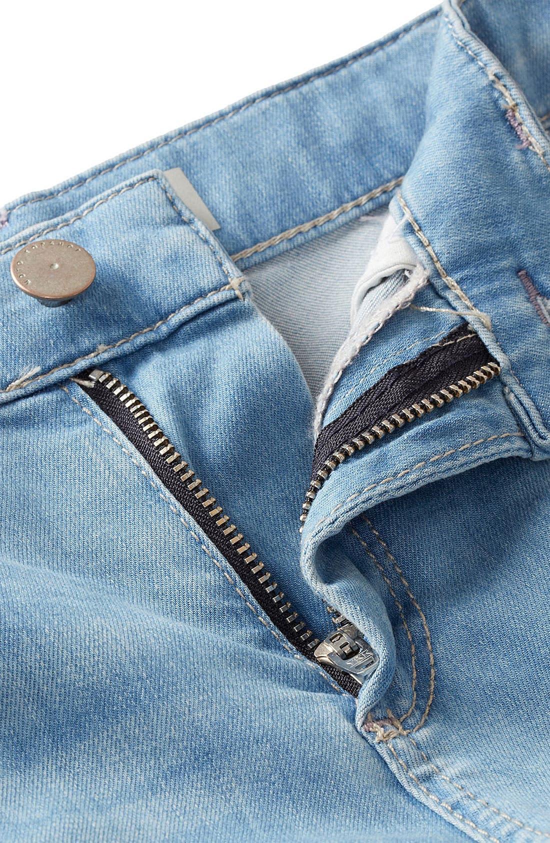 Alternate Image 3  - Topshop Moto 'Leigh' Bleach Wash Skinny Jeans (Long)