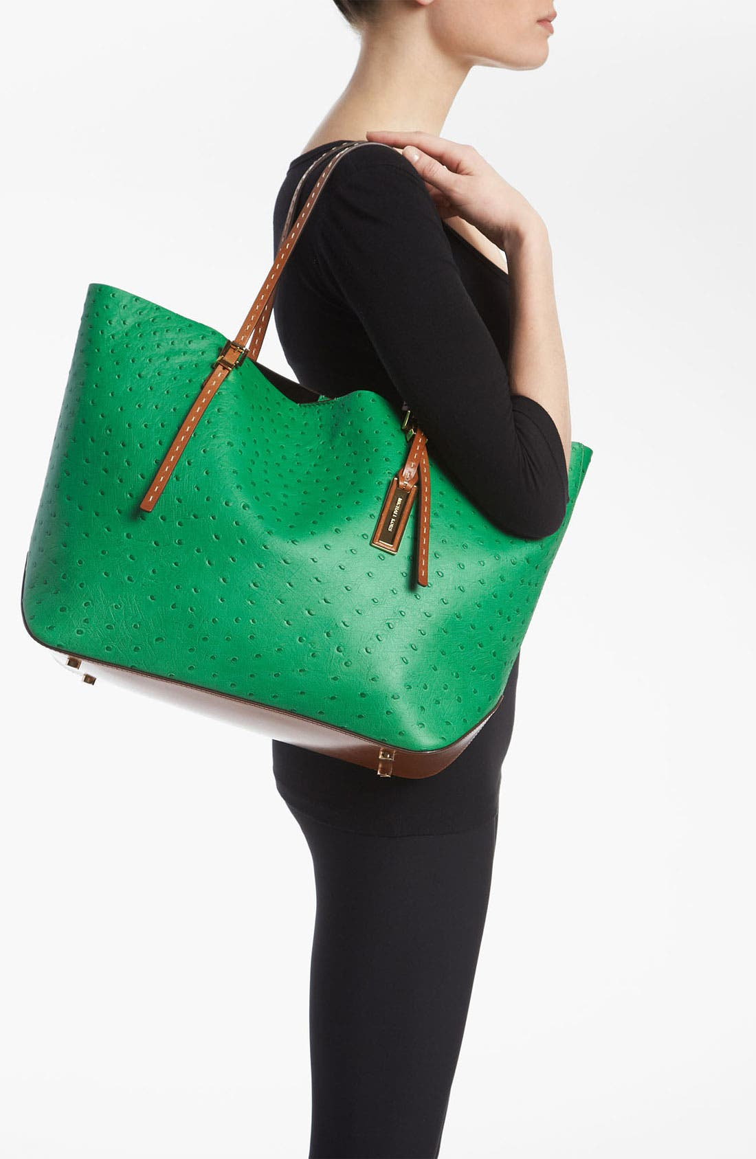 Alternate Image 2  - Michael Kors 'Gia' Ostrich Embossed Tote
