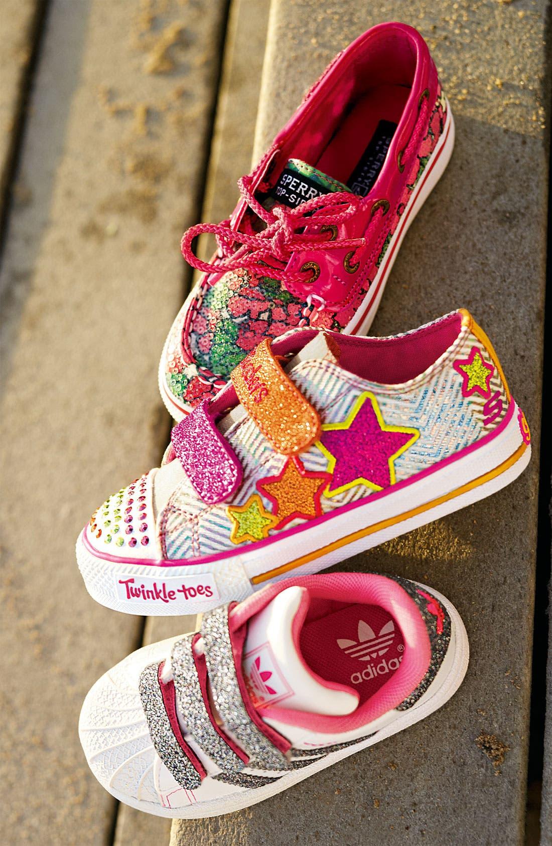 Alternate Image 5  - adidas 'Sparkle Superstar 2' Sneaker (Baby, Walker & Toddler)