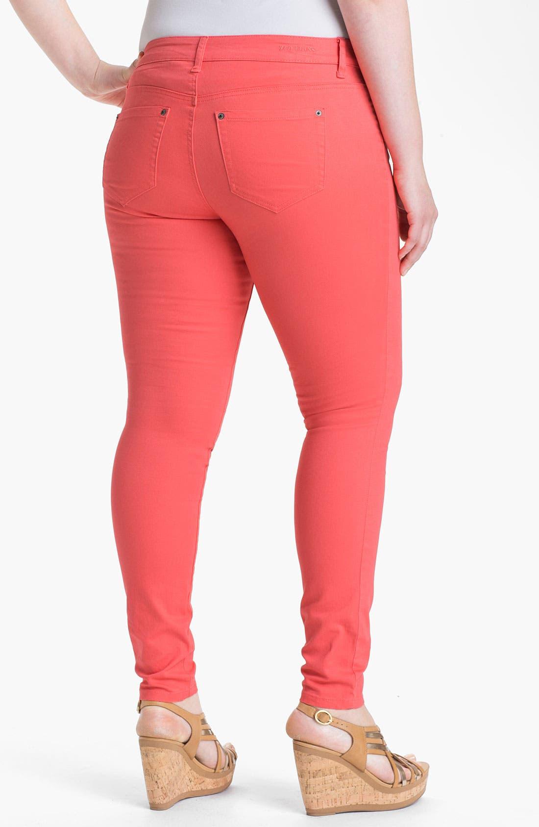 Alternate Image 2  - ZCO Twill Skinny Jeans (Juniors Plus)