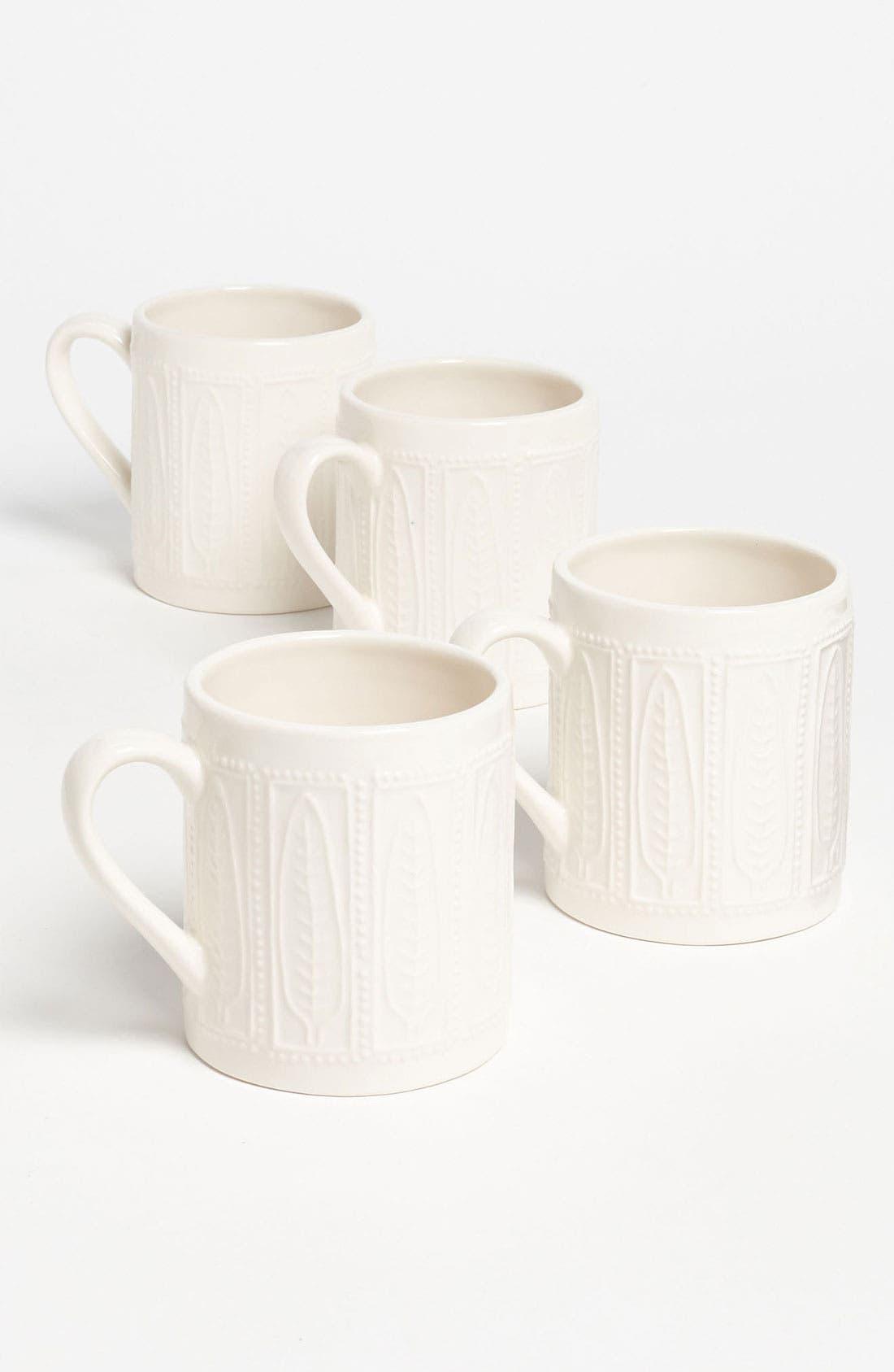 Main Image - Magenta 'Bohemian Lace' Mugs (Set of 4)