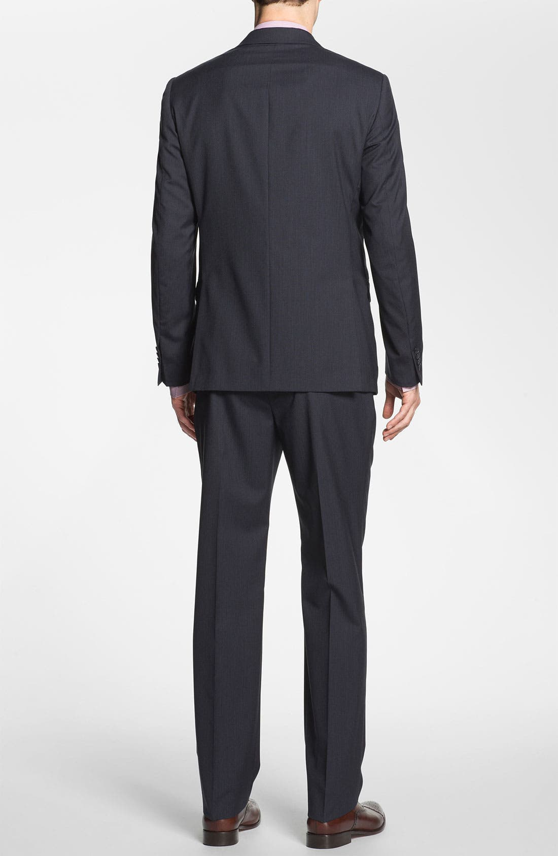 Alternate Image 3  - Michael Kors Trim Fit Stripe Suit