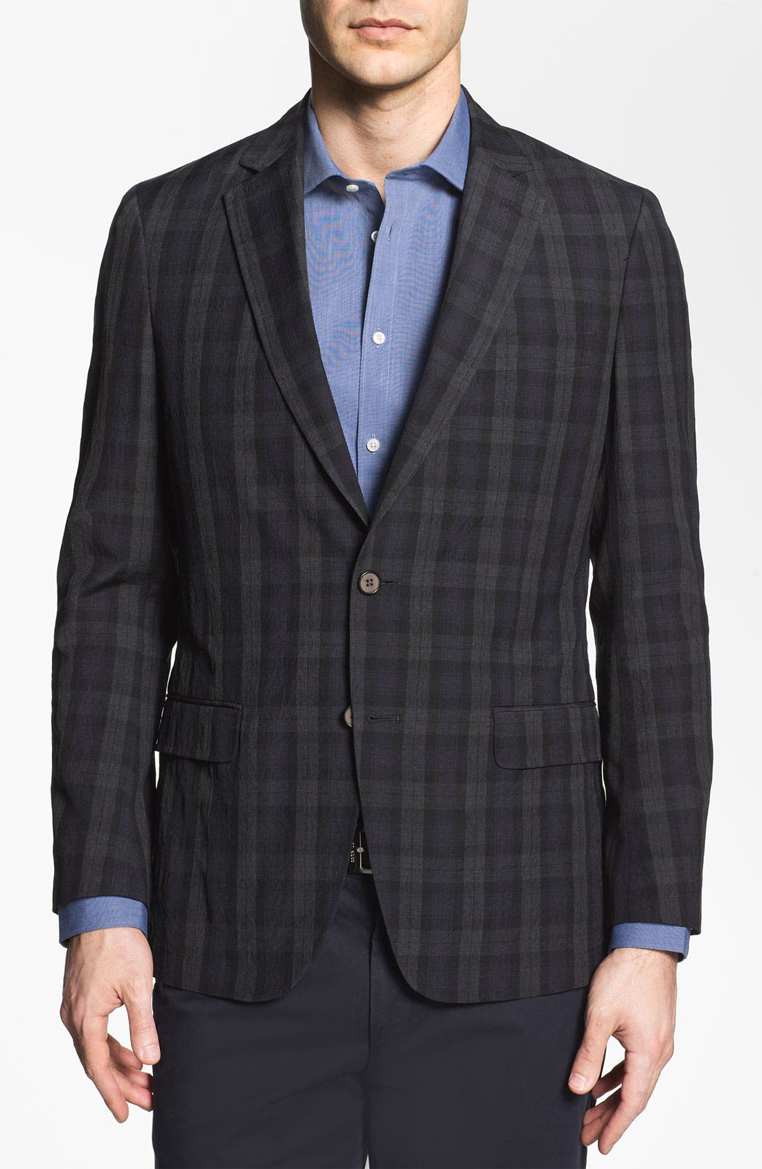 Main Image - Michael Kors Trim Fit Plaid Wool Sportcoat