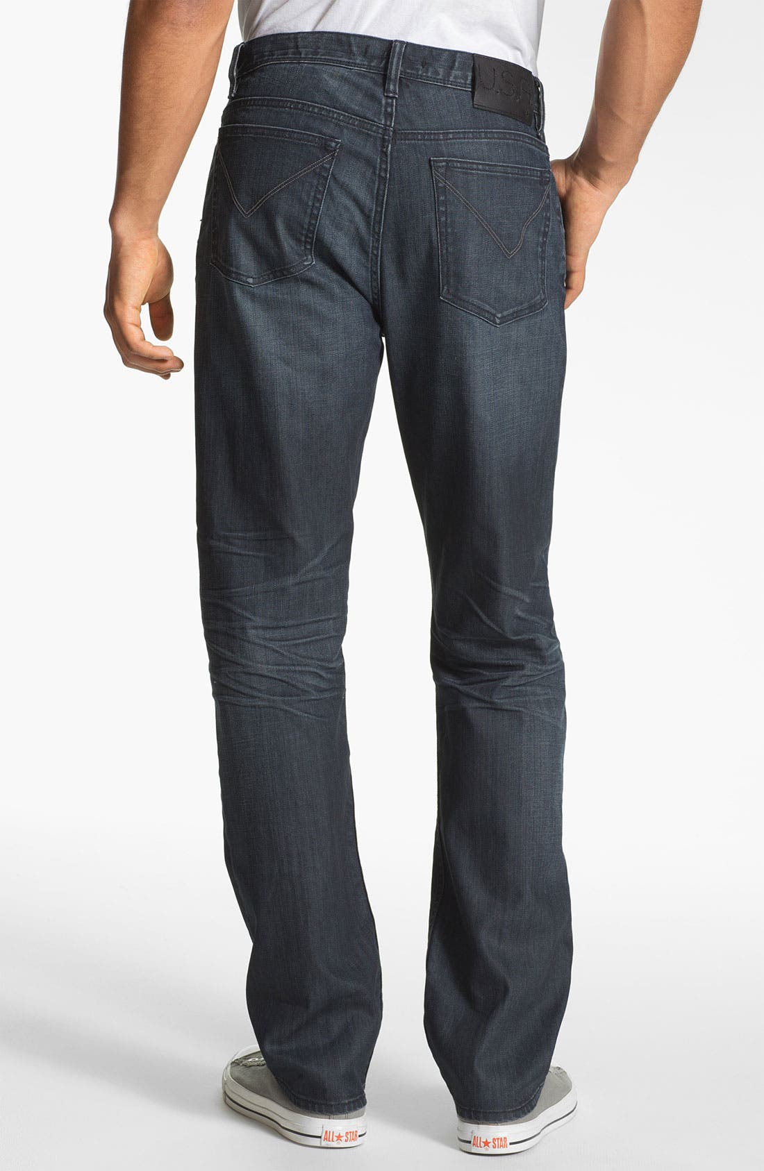 Alternate Image 2  - John Varvatos Star USA 'Authentic' Straight Leg Jeans (Storm Wash)