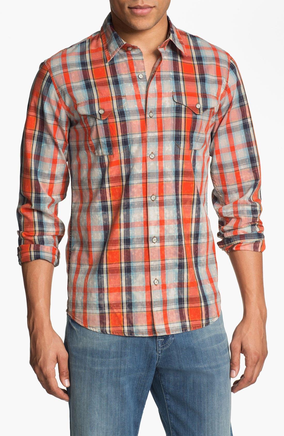 Main Image - 55DSL 'Sweel' Check Print Woven Shirt