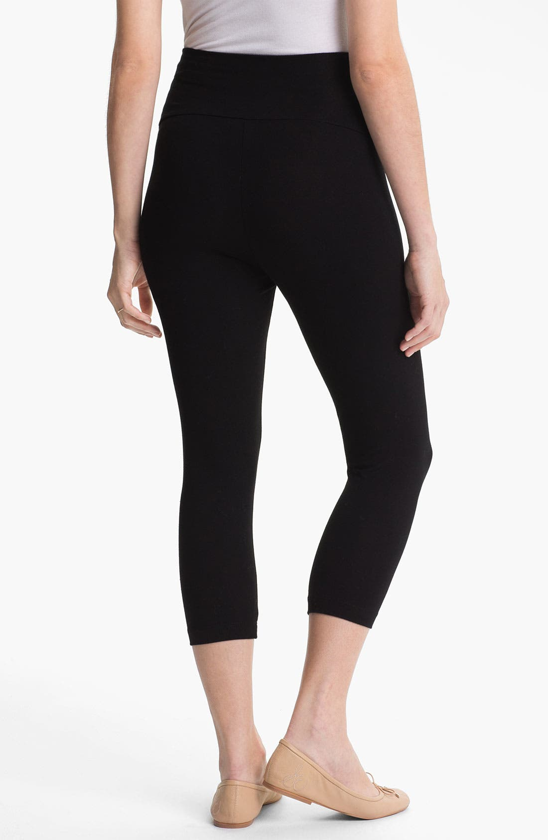 Alternate Image 2  - Japanese Weekend Capri Maternity Leggings