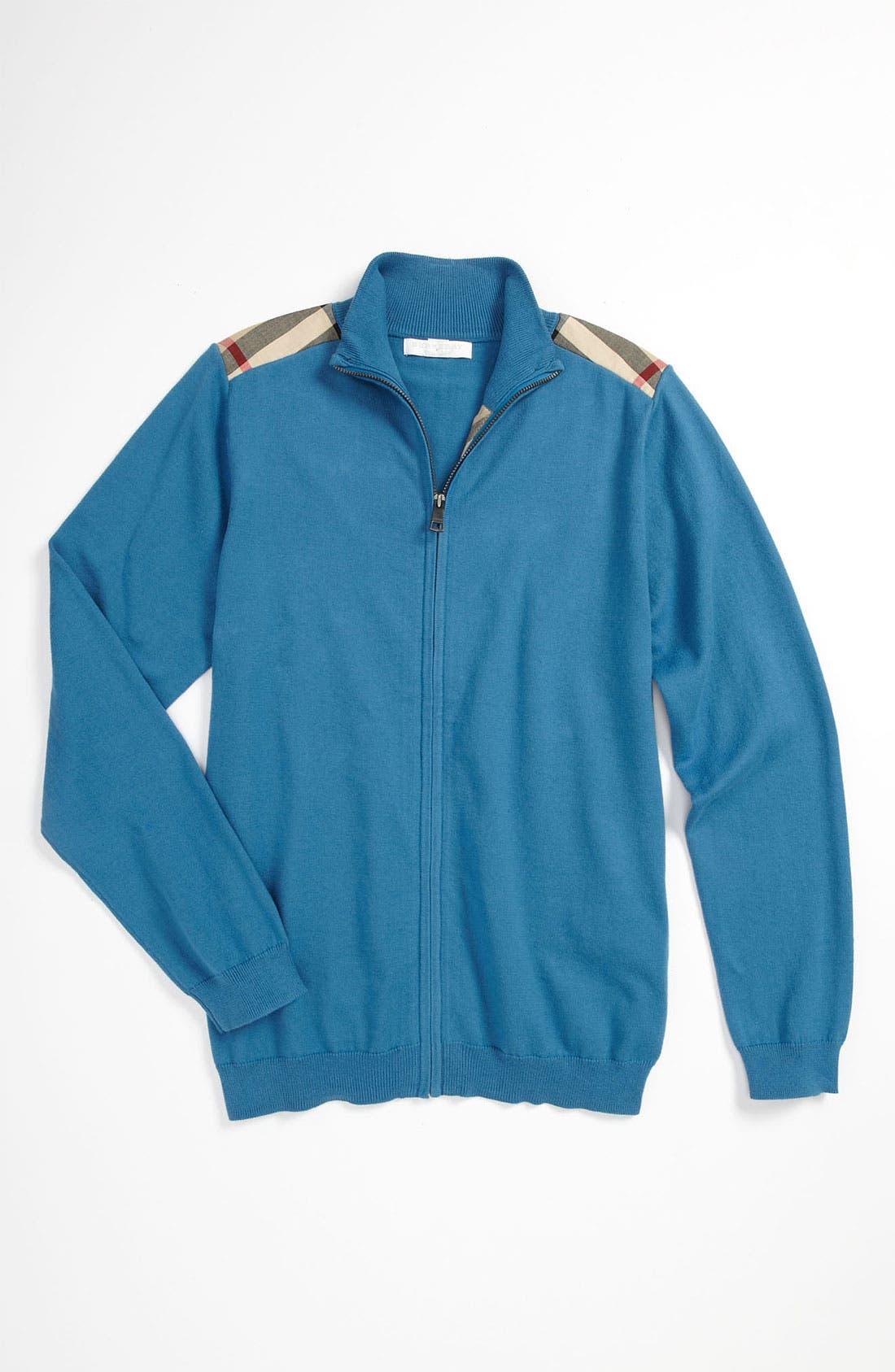 Alternate Image 1 Selected - Burberry Mock Neck Sweater (Little Boys & Big Boys)