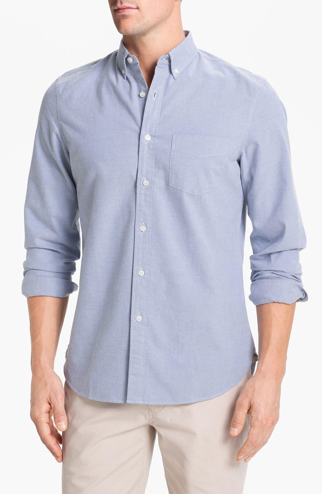 Main Image - Wallin & Bros. Trim Fit Oxford Sport Shirt