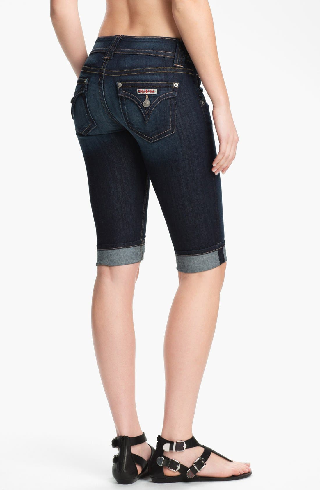 Alternate Image 2  - Hudson Jeans Cuff Stretch Denim Bermuda Shorts (Stella)