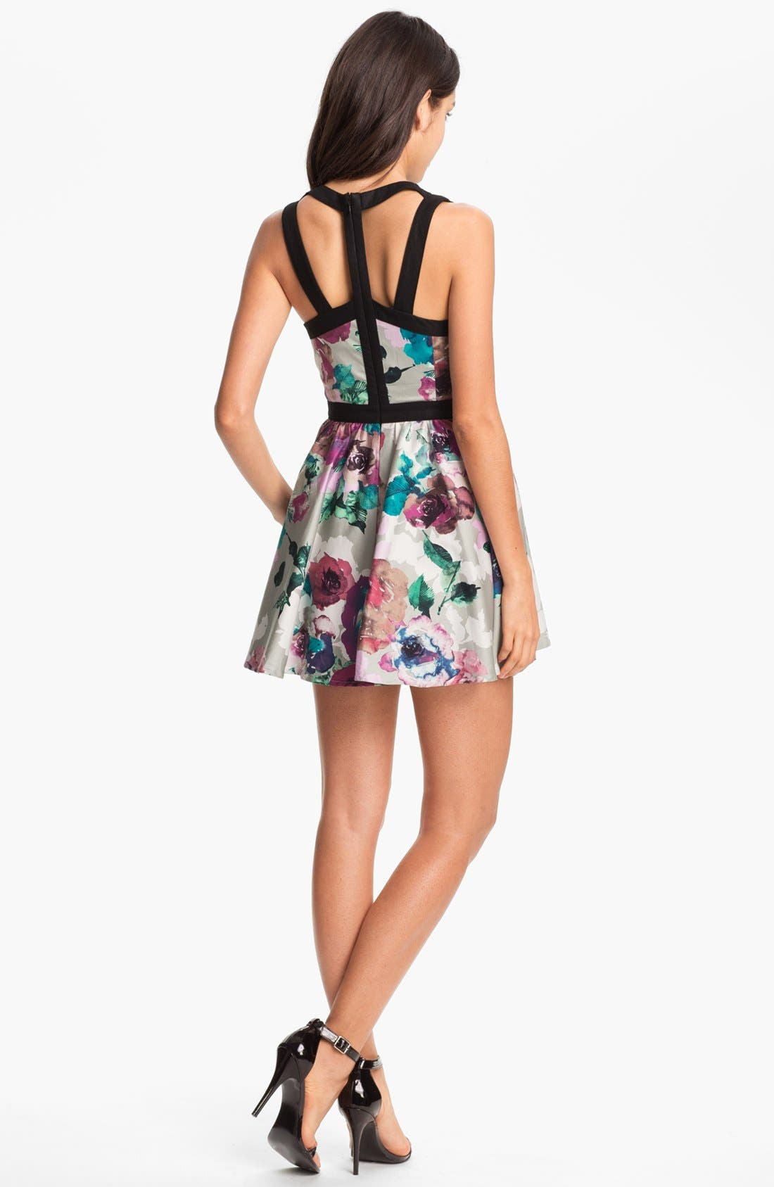 'Day Dream' Print Fit & Flare Dress,                             Alternate thumbnail 2, color,                             Abstract Flower Print