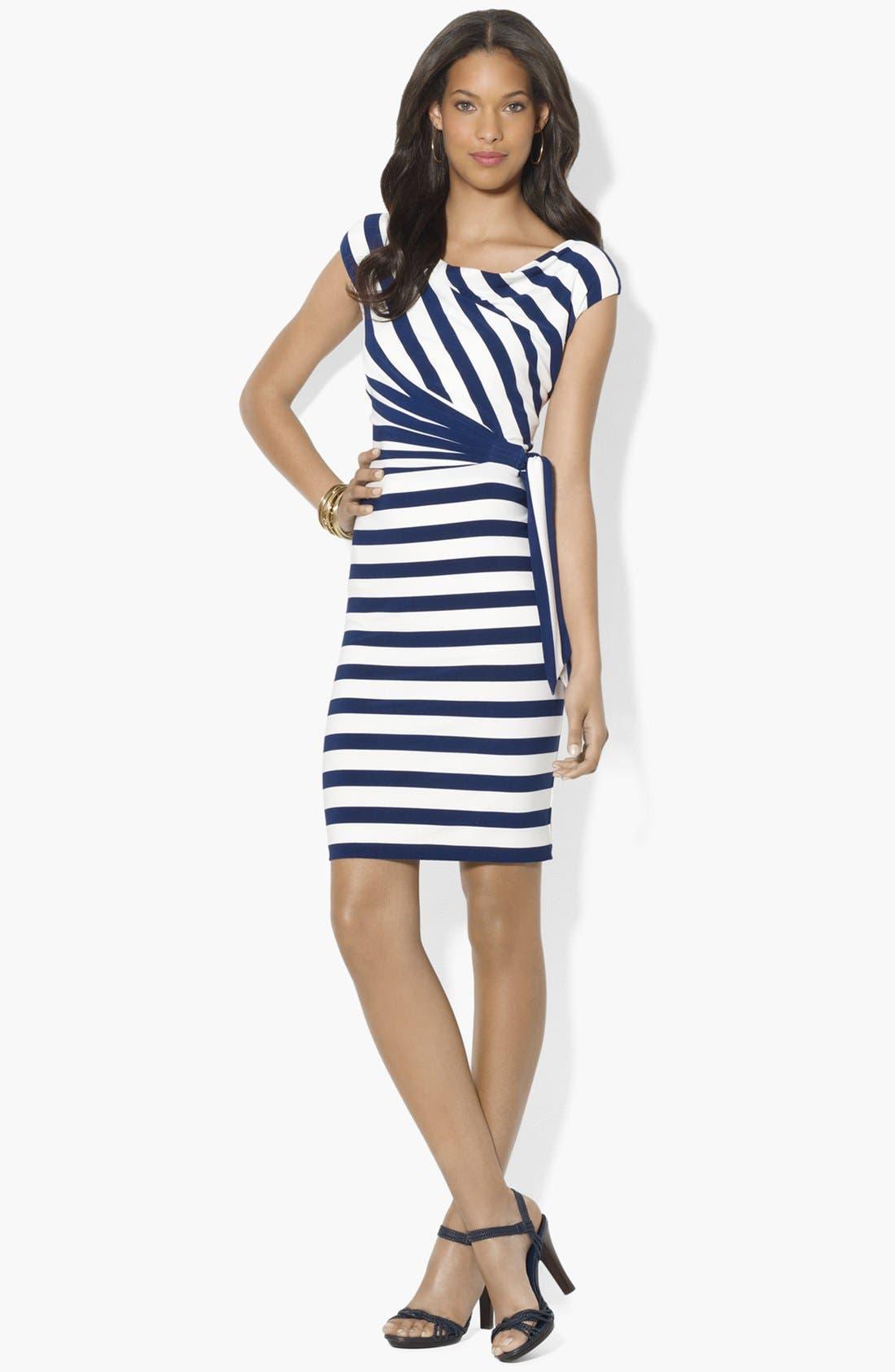 Alternate Image 1 Selected - Lauren Ralph Lauren Stripe Jersey Dress