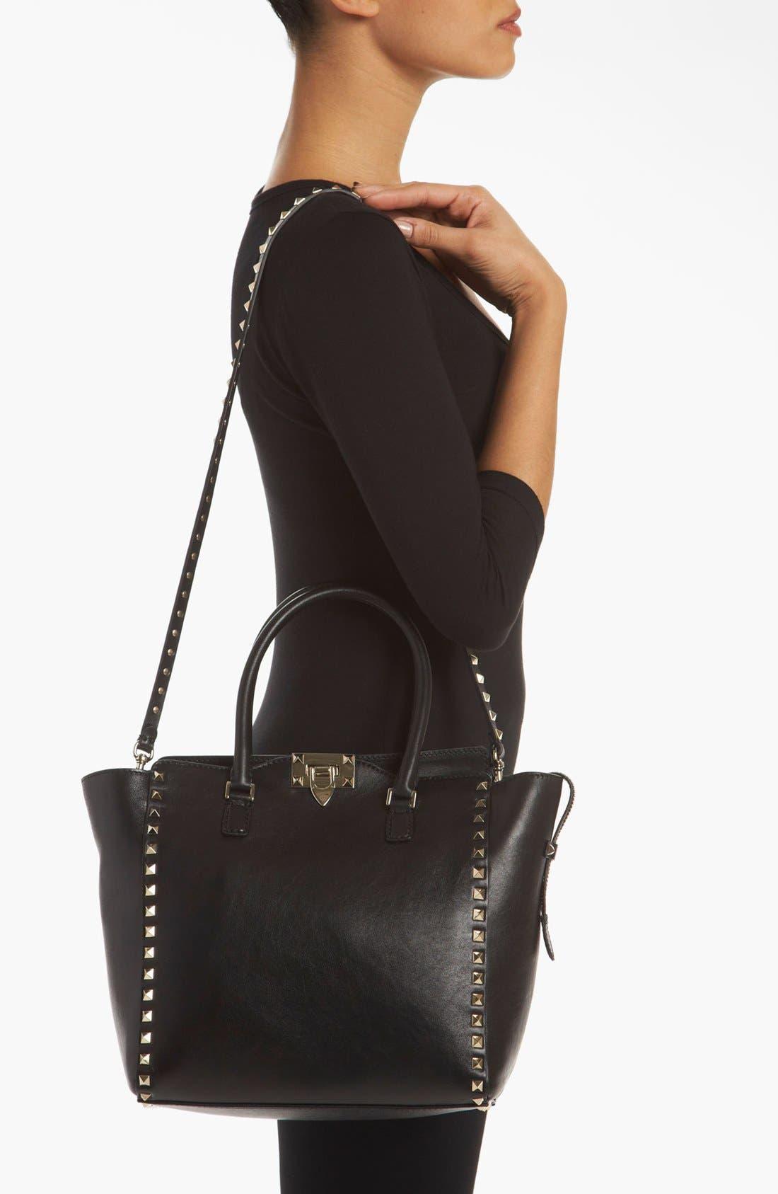Alternate Image 2  - Valentino 'Rockstud' Double Handle Leather Tote