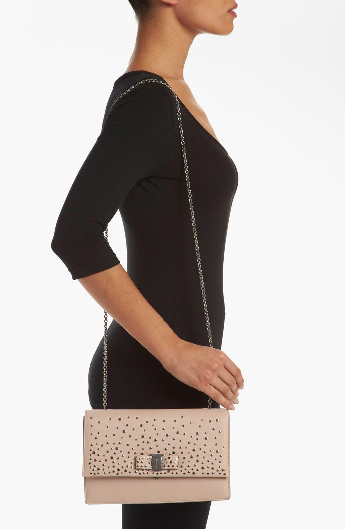 Alternate Image 2  - Salvatore Ferragamo 'Louvre Ginny - Mini' Leather Shoulder Bag