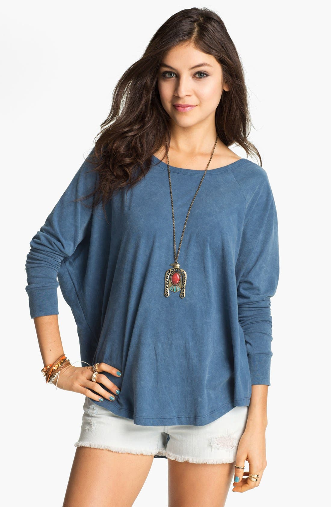 Alternate Image 1 Selected - Project Social T Vintage Wash Batwing Top (Juniors)