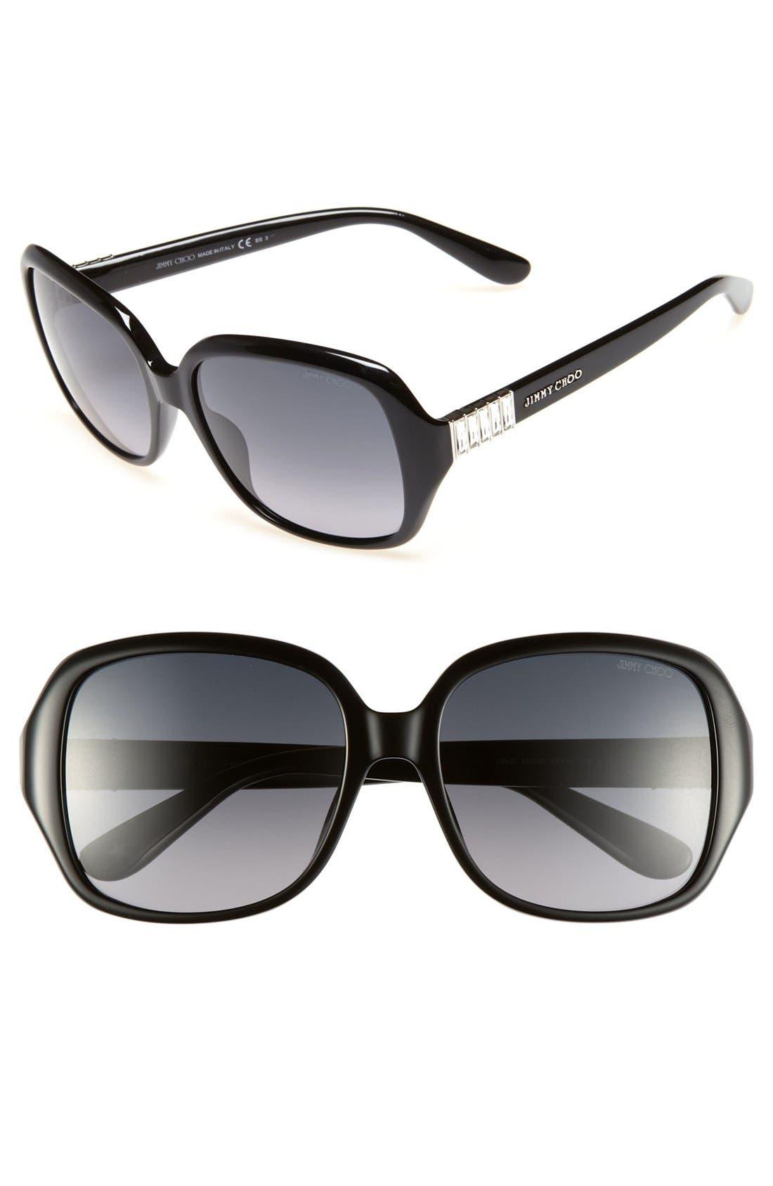 Alternate Image 1 Selected - Jimmy Choo 'Lia' 56mm Sunglasses