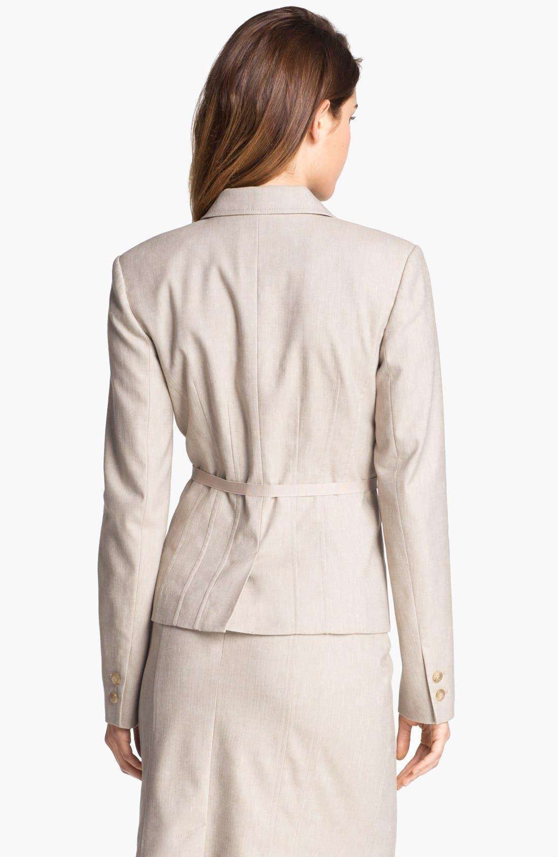 Alternate Image 3  - Halogen® Belted Herringbone Jacket