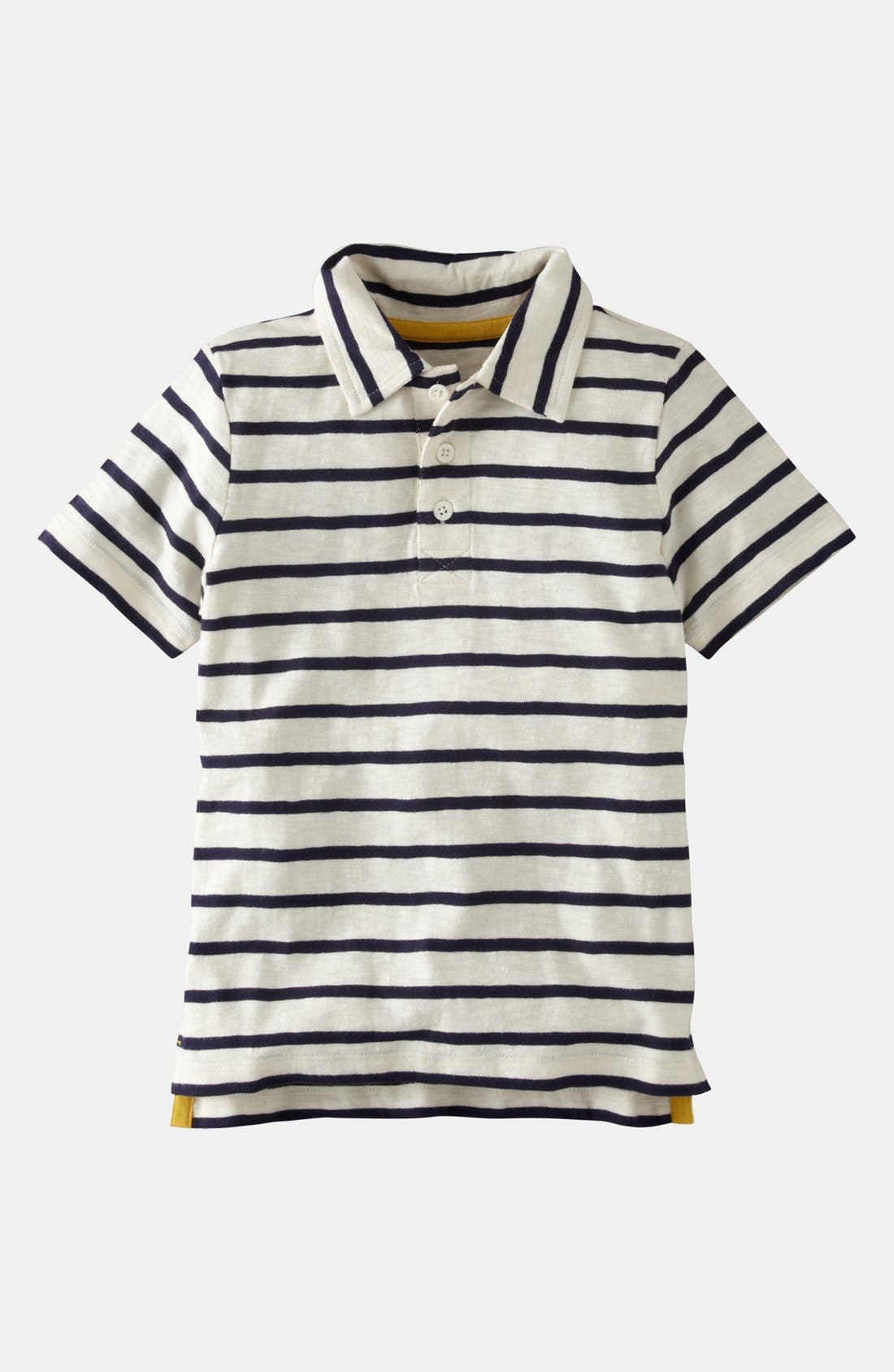 Alternate Image 1 Selected - Mini Boden Stripe Polo (Little Boys & Big Boys)