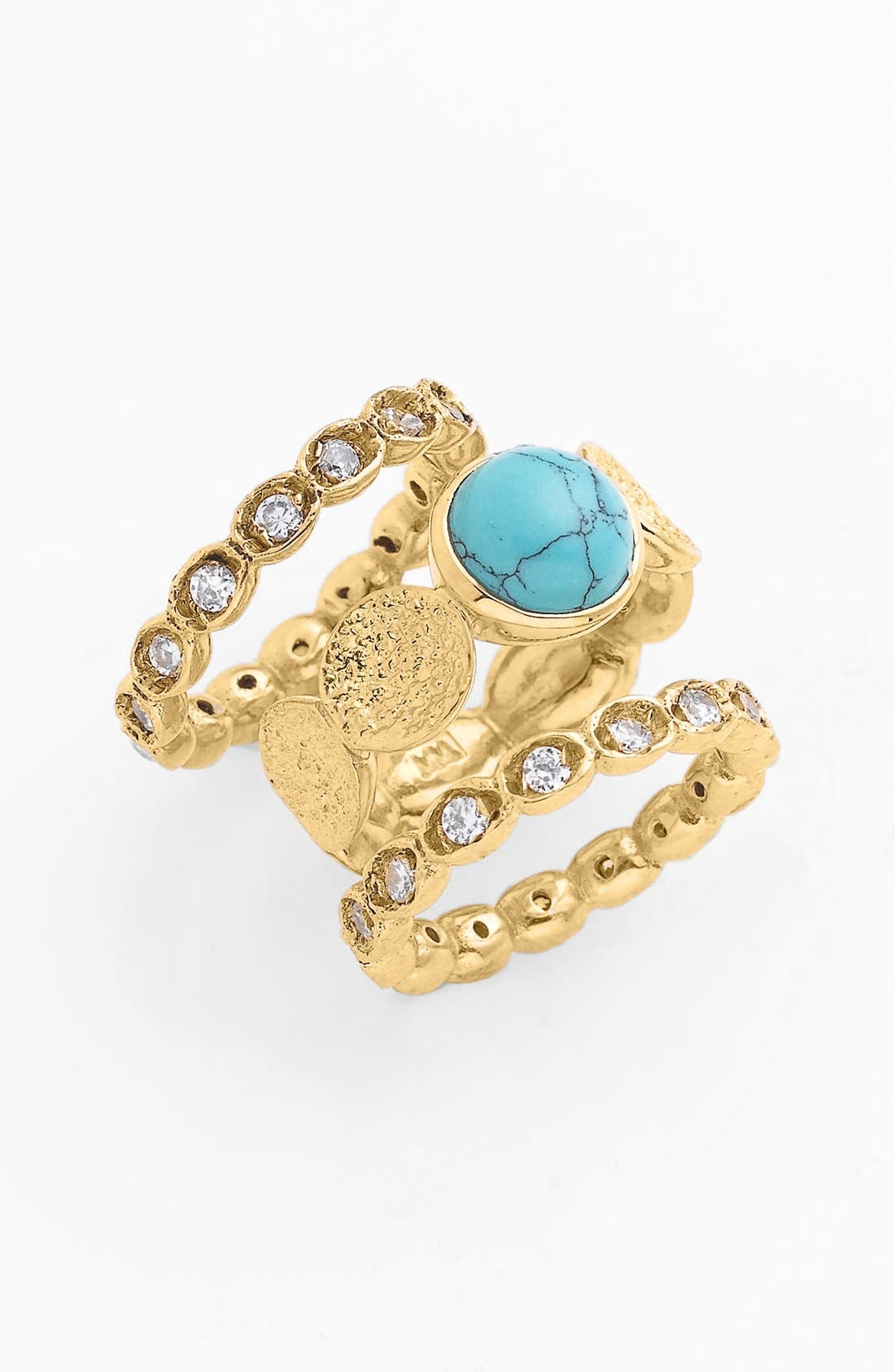 Main Image - Melinda Maria 'Montague' Stackable Rings (Set of 3) (Nordstrom Exclusive)