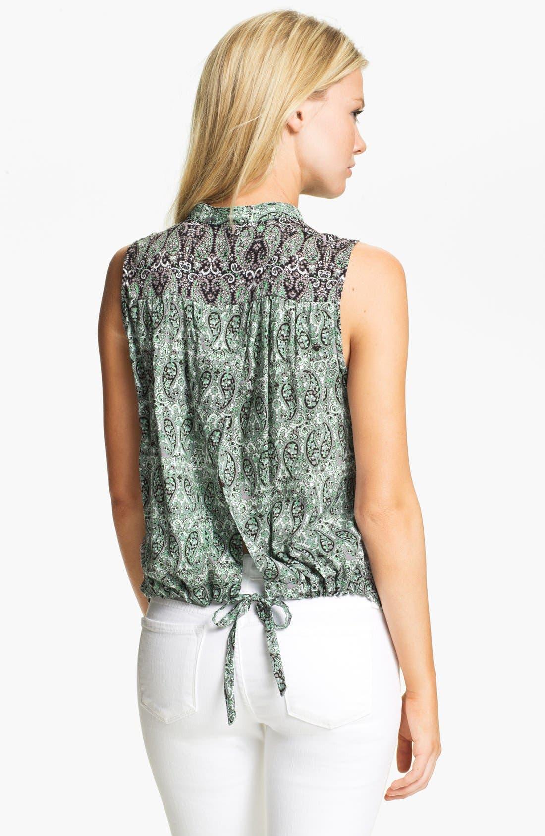 Alternate Image 2  - Ella Moss Tie Back Twin Print Shirt