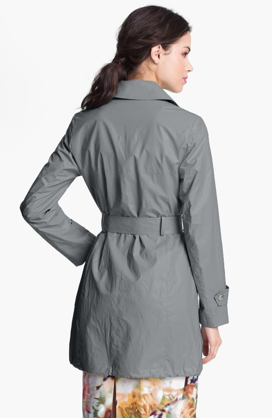 Alternate Image 2  - Via Spiga Studded Faux Leather Trench Coat