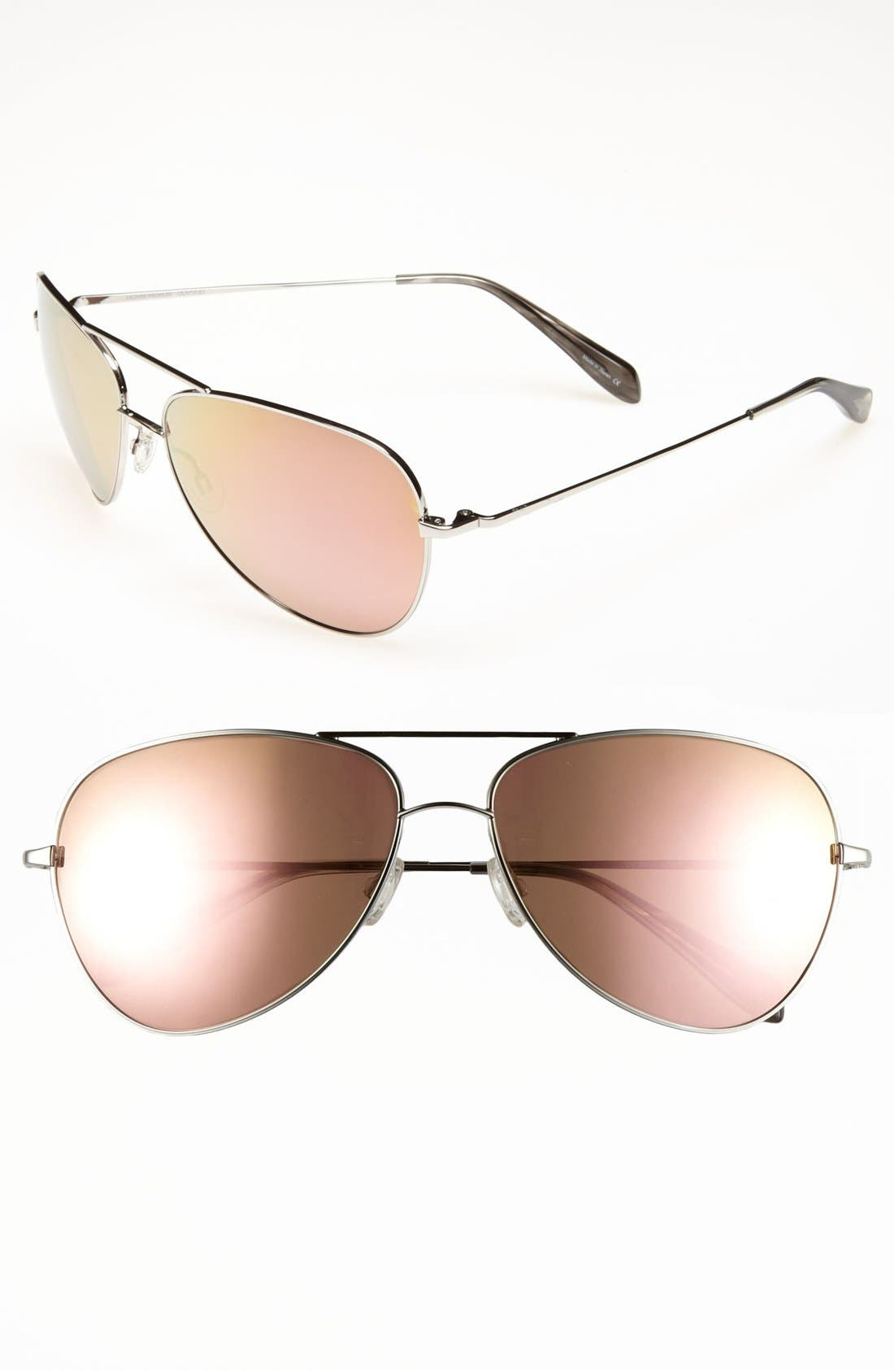 Main Image - Oliver Peoples Aviator Sunglasses (Online Exclusive)