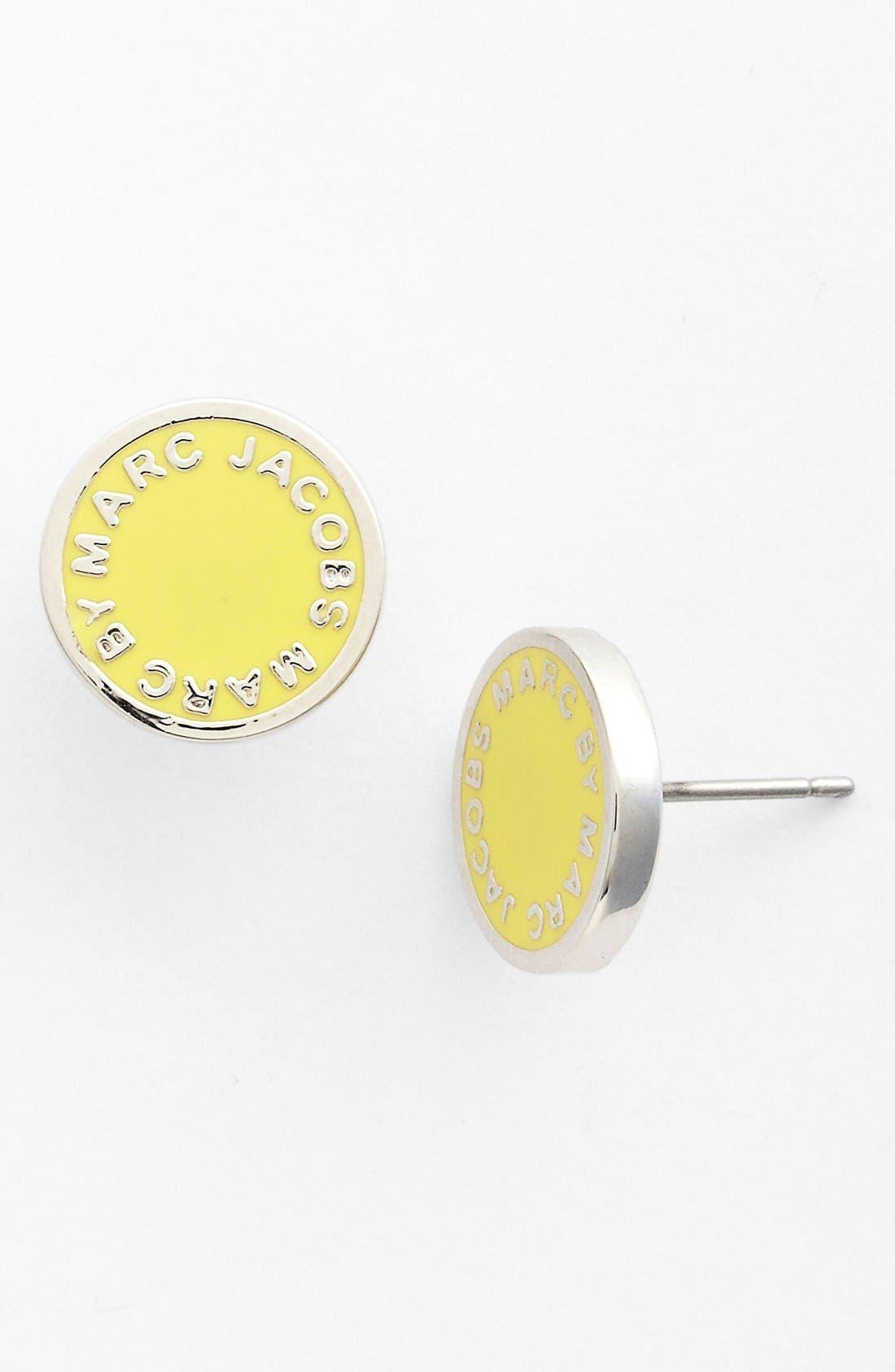 Alternate Image 1 Selected - MARC JACOBS Enamel Logo Disc Earrings