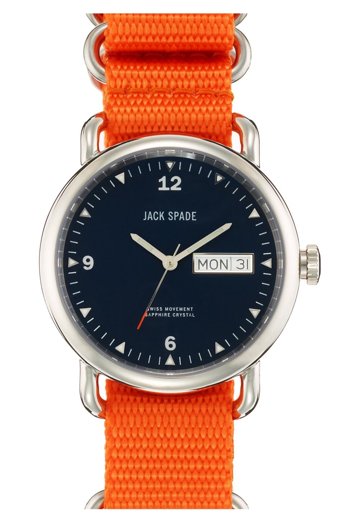 Alternate Image 1 Selected - Jack Spade 'Classic Military - Conway' Round Watch, 38mm