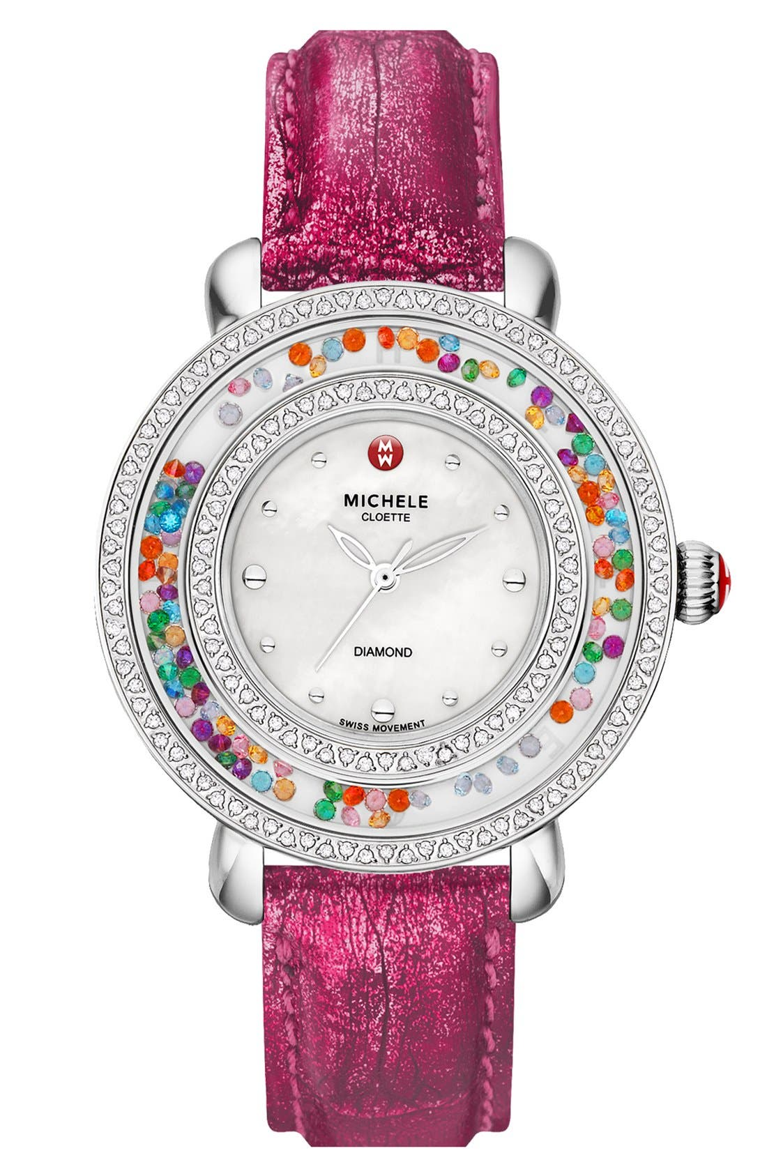 Alternate Image 2  - MICHELE 'Cloette Carnival' Diamond Watch Case, 38mm